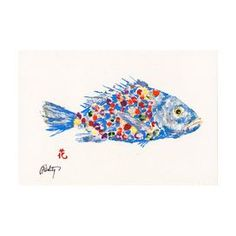 "Bring coastal-chic appeal to your home library or entryway with this eye-catching print, showcasing a Gyotaku-inspired fish motif.    Product: Art print   Construction Material: Paper Features:  Gyotaku reproduction print  Comes with backing and clear plastic packaging   Ready to frame Dimensions: 12"" H x 18"" W"