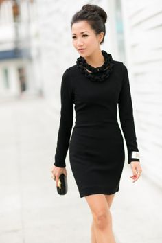 love this dress its a twist on a winter long sleeve floor length dress I love that they kept the long sleeves and shortened the length