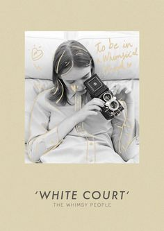 White Court collection Film Photography lookbook layout