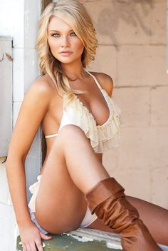 "beautiful girl in white and boots, sexy blond woman (appears to be the fastest yet to hit 10+ ..... ""Top Sexy"" per community, from Kythoni: Women Are Beautiful 2 board pinterest.com/kythoni)"