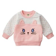 MOF Kids sweatshirts infant baby boy sweatsuit cartoon animal print featuring a crew neck, long sleeves, a printed cartoon animal print logo to the front, side slits and a straight hem. Funky Baby Clothes, Baby Boy Outfits, Kids Outfits, Kids Coats, Print Logo, Baby Design, Cartoon, Tulum, Sweatshirts