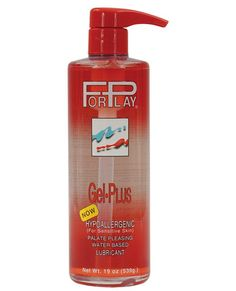 There's no better way to get foreplay going than with ForPlay Gel Plus personal lubricant. Extra moisturizing thanks to Aloe Vera and Vitamin E, the luxurious gel consistency is perfect for all your needs, whether they involve sex toys, latex condoms or just skin. Formulated to meet the highest pharmaceutical manufacturing standards, ForPlay Gel Plus is the only lube you'll ever need to enhance your sexual comfort. Bottle contains 19 oz. of lubricant for plenty of long-lasting fun.