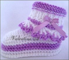 Ravelry: Project Gallery for baby booties 001 pattern by Valentina A