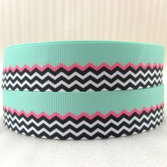 """(5yds per roll) 10Y2015544  1""""(25mm) green Chevron high quality printed polyester ribbon 10 yards quick-selling product"""