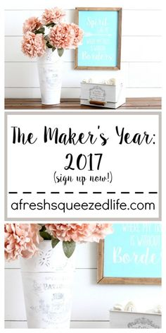 The Maker's Year: 2017 is a perfect way to get your craft on! Let's create together and learn together. Sign up for my newsletter to receive the once a month video tutorial in your inbox!