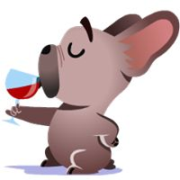 Mugsy Facebook Stickers by Ghostbot. A little French bulldog who makes big…