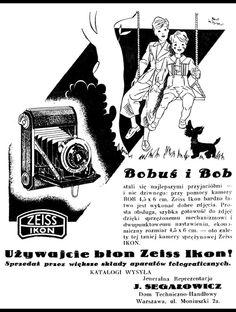 Retro REKLAMA - Błony ZEISS Ikon do aparatów fotograficznych - 1937 rok