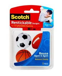 Scotch Restickable Designs R106-Sports Give your space the personal touch!