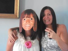 Masks of the bride to be.  A great hen do idea