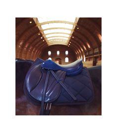 Guibert Paris - Selle sur mesure bleue Jumping Saddle, Paris, Equestrian, Passion, Games, Calf Leather, Black Leather, Luxury Flowers, Saddles