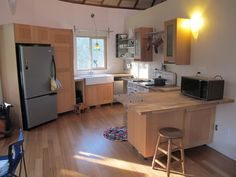 contemporary kitchen in a yurt
