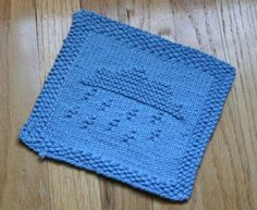 Rainy Day Knit Dishcloth Pattern