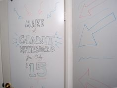Cheap, very large whiteboard.  I will be doing a similar project myself, though I will cover a lot of additional options which may be done.