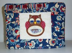 Owl Toaster Cover, Two Slice Toaster Cover, Jabobean Flower Toaster Cover, Blue Toaster Cover by PatsysPatchwork on Etsy