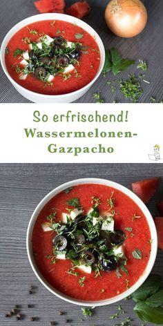 An warmen Sommertagen muss es in der Küche besonders schnell gehen – denn wer hat schon Lust, stundenlang zu kochen. Da ist mein neues Gazpacho Rezept genau das Richtige. Denn dieses leichte Sommerrezept ist im Handumdrehen gemacht, schmeckt der ganzen Familie – und ist vor allem eisgekühlt ein herrlich erfrischender Genuss. Übrigens, diese Wassermelonen-Gazpacho ist auch der Hit auf jeder Grill- & Sommerparty. Probiere es einfach aus!
