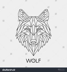 Vector Polygonal Geometric Wolf Head Abstract Stock Vector (Royalty Free) 758753647