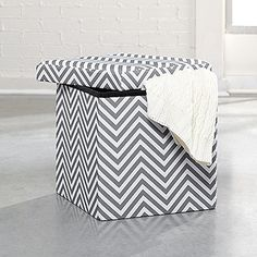 Love this Upholstered Storage Ottoman from @sauderusa I got myself 2! #spon