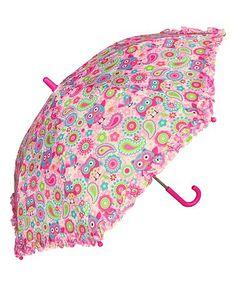 Pink Owl Umbrella