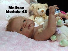 Boneca Bebê Reborn Melissa em vinil