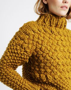 Crochet Top Patterns Ravelry: Full Moon Jumper pattern by Wool and the Gang - Jumper Knitting Pattern, Jumper Patterns, Hand Knitting, Knitting Patterns, Knitting Ideas, Chunky Knitwear, Chunky Wool, Chunky Knit Jumper, Grunge Look