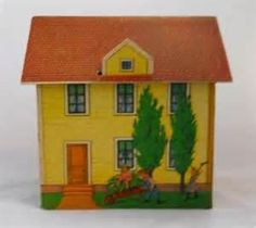 Image detail for -toy village house 3 mcloughlin bros late 1800 s