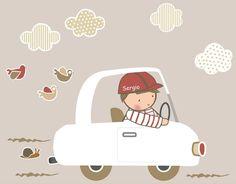 vinilo+niño+coche+blanco+-+vinilo+de+recorte,+cada+elemento+es+una+pieza+independiente,+tú+decides+como+colocarlas. Esta+colección+se+compone+de:+Niño+en+coche,+3+pajaritos,+4+nubes,+1+caracol,+3+líneas+de+suelo. Medidas+coche.+75+cm+x+53+cm. Si+quieres+cambios+de+color+u+orientación+o...contacta+con+Stencil+barcelona.