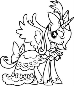 28 best My Little Pony Coloring Pages images on Pinterest | Coloring ...