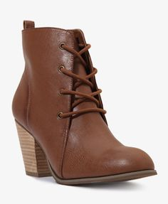 Lace-Up Booties | FOREVER21 - 2017307232