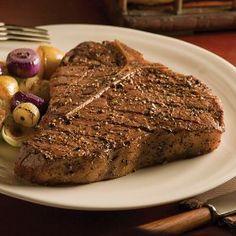 Little salt little pepper that's it. Marinade kills the flavor of a real steak. If ur gonna pay for it taste it.