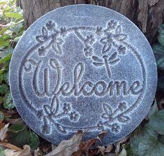 "plastic plaque mold ""welcome "" garden plaque / stepping stone | Crafts, Sculpting, Molding & Ceramics, Ceramics & Pottery | eBay!"