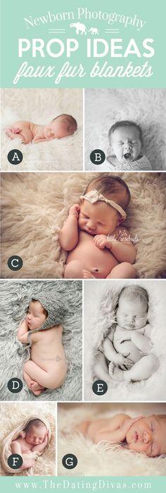 Adorable Newborn Photography Prop Ideas using Faux Fur