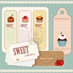 Etichette vintage per dolci