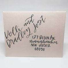 Envelopes with hand lettering — modern calligraphy or brush ...