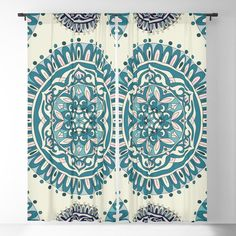 Mandala pattern in blue color Blackout Curtain Blackout Windows, Blackout Curtains, Mandala Pattern, Curtain Rods, Throw Pillows, Blue, Color, Toss Pillows, Cushions