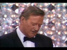 "The Man! John Wayne winning Best Actor for ""True Grit"""