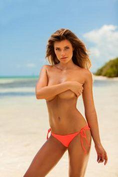 Beach babe Samantha Hoopes is a knockout in Plumeria Swimwear - Swim Daily - SI.com