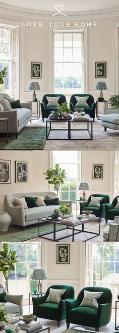 Living Room Green, New Living Room, Living Room Interior, Home Decor Bedroom, Living Room Decor, Living Room Sofa, Decor Room, Classic Living Room, Elegant Living Room