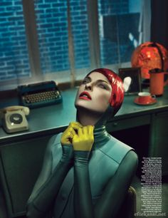 Linda Evangelista Is Photographed By Steven Klein For The Story Super Linda For The September Issue Of Magazine
