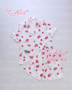This print is soooo cute!! I'm inspired in general by it to make some pajamas like it! <3 To Alice - Taobao