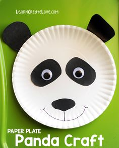 Do panda crafts ever get old? We've made several panda crafts in the past, including this printable panda, panda cub, and red panda. Check them out for Diy Crafts For Kids Easy, Paper Plate Crafts For Kids, Animal Crafts For Kids, Summer Crafts, Toddler Crafts, Projects For Kids, Art For Kids, Paper Crafts, Toddler Preschool