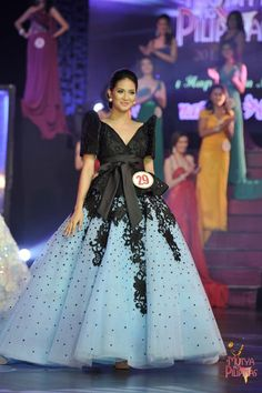 Modern Filipiniana Gown, Filipiniana Wedding, Philippines Outfit, Philippines Culture, Entourage Gowns, Filipino Fashion, Kids Gown, Traditional Dresses, Evening Gowns