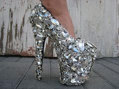 Gasoline Glamour's Swarovski-encrusted shoes, YOW!
