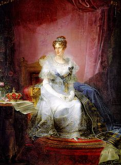 Marie-Louise of Austria, Duchess of Parma,former French Empress, by Giovan Battista Borghesi, 1839