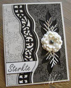 Een paar Sterkte kaarten, in opdracht gemaakt, van het mooie scrap papier van Bo Bunny. De mooie randen zijn gemaakt met de borde...