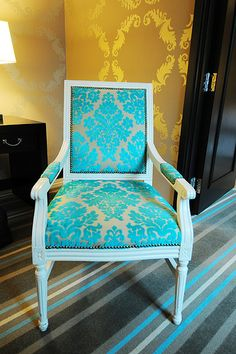 I want this chair for my living room! From The Nines Hotel in Portland, OR