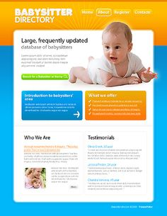 Babysitter Directory Website Templates by Mercury