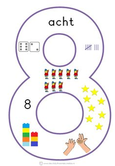 * Cijfersymbolen om in de klas te hangen | Beginnende gecijferdheid. 8-9 Numbers Preschool, Math Numbers, Kindergarten Math, Teaching Math, Busy Boxes, School Posters, Math For Kids, Numeracy, Working With Children