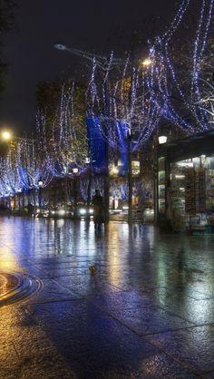 france, night, paris, lighting, street