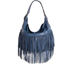 orYANY Soft Nappa Leather Fringe Hobo - Stevie - A270293 — QVC.com