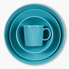 Iittala Teema Dinnerware, Turqoise Home - Dining & Entertaining - Bloomingdale's Aqua, Turquoise, Textiles, China Dinnerware, Clean Design, Design Thinking, Scandinavian Design, Ceramic Art, Cool Kitchens